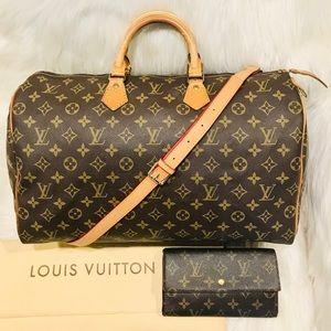 Authentic Louis Vuitton Speedy 40  #4.2zhj